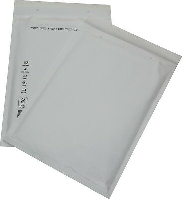 100 Pieces Padded Mailing Envelopes Size 7 G White 250x350 Envelopes Din A4+C4