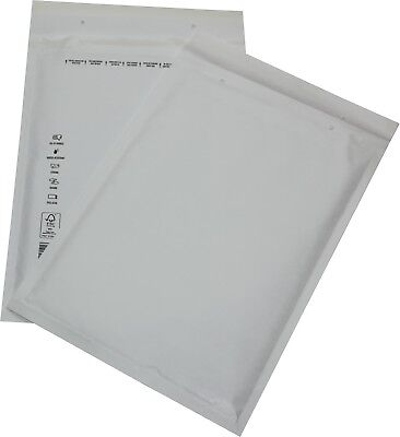 100 Pieces Padded Mailing Envelopes Size 7 White 250x350 Envelopes Din A4+C4