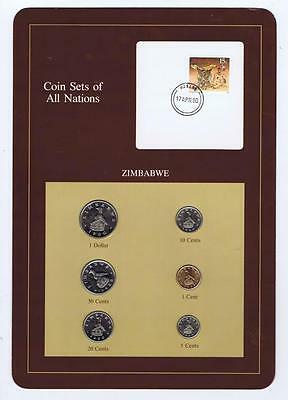 Zimbabwe 6pc Mint set 1880-88 BU Coin Sets of All Nations, stamp