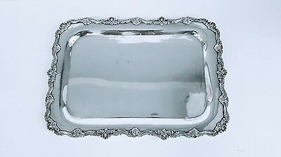 Exceptional Tray / Platter By Gonzalo Moreno Mexico Sterling Silver 14 3/4""