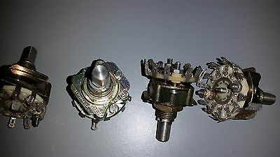 (4) Western Electric Unidex 1 Pole 12 Position Switches KS-19819-L12