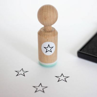 STAR - Very Mini Rubber Stamp - Star Outline - Craft Scrapbooking