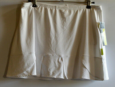 Womens 10 - 12 Tennis Skort Pure Lime White With Ball Pockets Z362