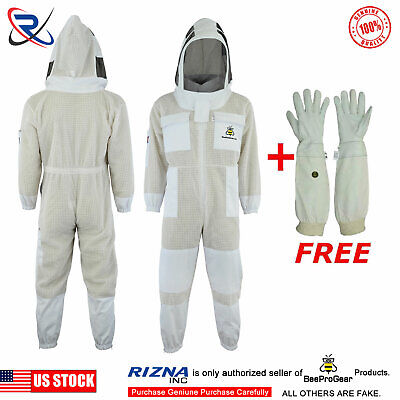 3 Layer beekeeping protective full suit beehive ventilated jacket fencing Veil