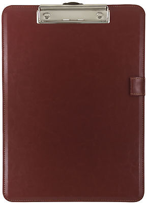 Trade Quest Clipboard Faux Leather Single (Chestnut Brown)