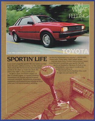 Vintage 1982 TOYOTA Corolla Sports Hardtop Oh What A Feeling! Print Ad 80's