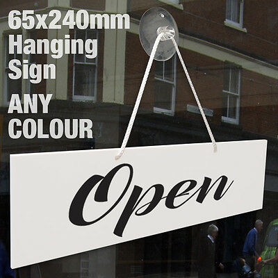 Open & Closed 3Mm Rigid Hanging Sign, Shop Window Door - Any Colour