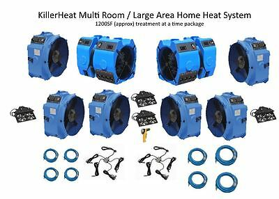 Mulit Room / Large area home bed bug heat system