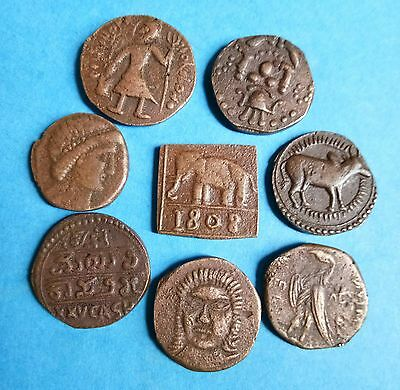 Ancient India Coin (8) Different Pieces Set Extremely Rare Coin