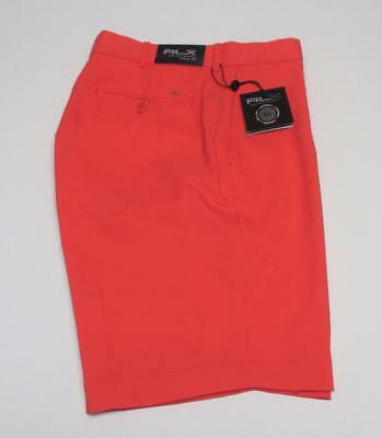 NEW Mens Size 34 Ralph Lauren RLX  Coral Glow polyester golf shorts