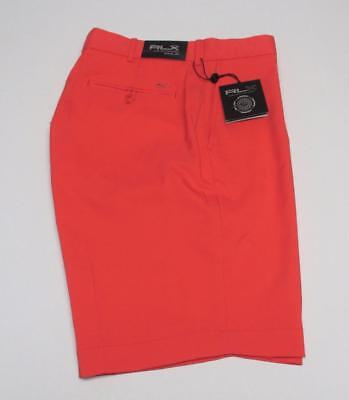 NEW Mens Size 36 Ralph Lauren RLX  Coral Glow polyester golf shorts