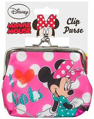Kids Girls Minnie Mouse Pink Clasp Clip Frame Coin Purse Toy Party Bag Fillers