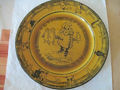 "Royal Doulton Skaters Ware ""Pryde Goeth Before Fall""  Plate."