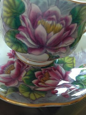 Royal Albert Tea Cup and Saucer Set Water Lily Hand Painted