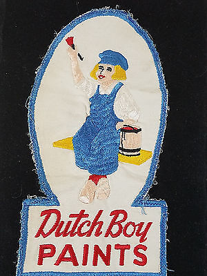 Vintage Dutch Boy Paints Large Embroidered Employee Patch