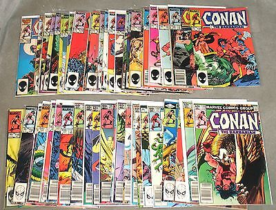 CONAN THE BARBARIAN Lot #135-183 Complete 49 Issues VF/NM 1982 Marvel #comics