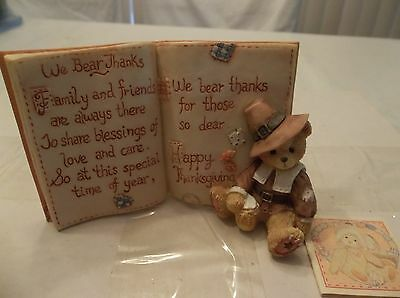 Cherished Teddies Thanksgiving Pray Plaque We Bear Thanks #651427 Copy1994 Nib
