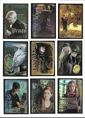 2009 Artbox Harry Potter and the Half-Blood Prince Puzzle Cards Complete Set