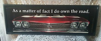 """NWT 29"""" Canvas on Wood - Red Chevelle """"As a matter of fact I do own the road"""""""