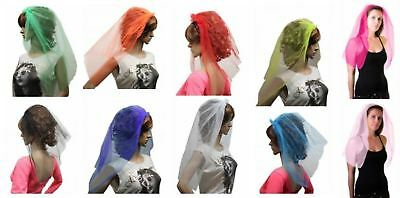 Women Veil On Hair Band Wedding Hen Party Fancy Costumes