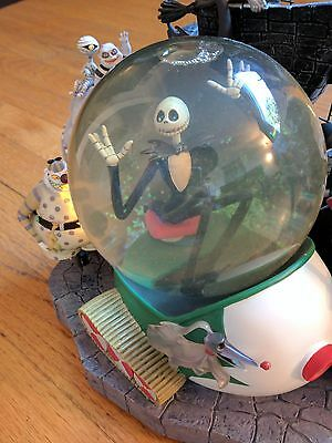 Disney Store Nightmare Before Christmas Snowglobe Premium Size Halloween Town DS