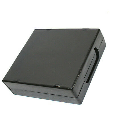 1 New High Quality Unikeep Style 24-CD DVD Black Poly Cases w/Sleeve P-PP24BLK
