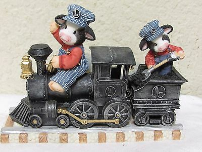 Enesco Mary's Moo Moos Lionel train hip hip hooray we're on our way