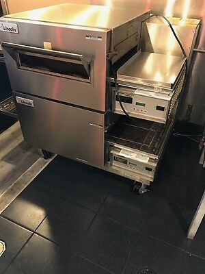 3 Lincoln IMPINGER 1450 ( Manitowoc ) gas conveyor baking pizza ovens