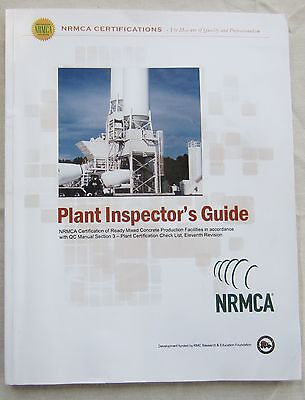 National Ready Mix Concrete Assoc NRMCA Certifications Plant Inspector's Guide