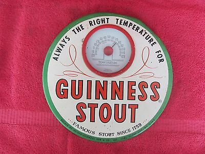 Guinness Stout Beer Thermometer Long Island City Ny Arthur Tin Cardboard Sign