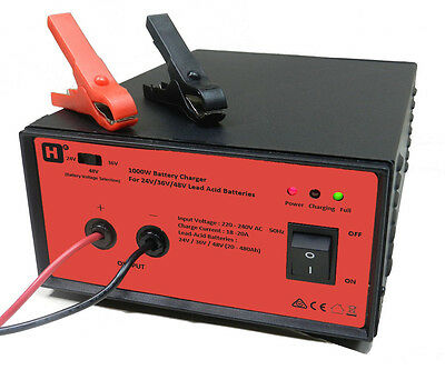 HW International - 24V/36V/48V Switchable,18-20A, 1000W LeadAcid Battery Charger