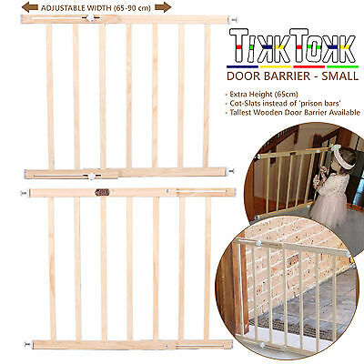 Adjusted Security Gate Wooden Baby Pet Child Safety Stair Door Barrier Extension