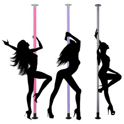 AW™ Portable Dance Pole Full Kit Dancing Fitness Stripper Exercise DJ Club Party