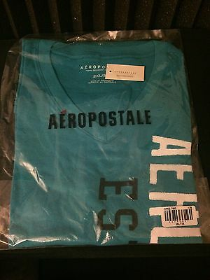 New Aeropostale T Shirt V Neck Rare Size Xxl 2Xl (Plastic Sealed)