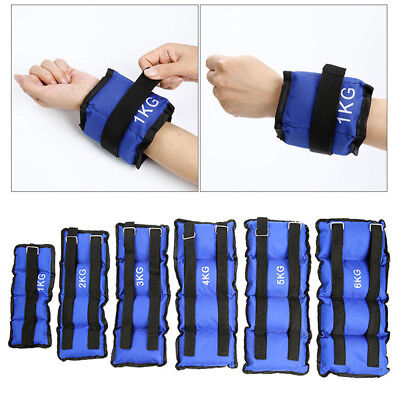 Ankle Weights Exercise Wrist Bracelets Straps Strength Training Gym Resistance