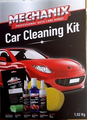 Car Cleaning Products Kit - Wax & Wash, Auto Protectant, Air Freshener