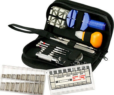 371Pcs Watch Repair Tool Kits Watchmaker Back Case Battery Cover Remover Opener