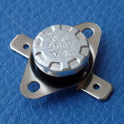 10PCS KSD301 NO 75°C Thermostat, Temperature Switch, Normally Open.