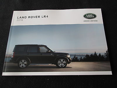 2016 Land Rover LR4 Sales Catalog 3.0L LR 4 HSE Landmark  Large US Brochure