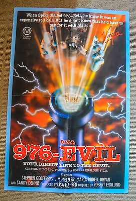1988	976 Evil	RARE Double sided	AUSSIE VIDEO VHS POSTER	Robert Englund HORROR