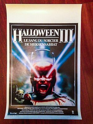1982 HALLOWEEN 3 ORIGINAL Movie Poster Season of the Witch CULT HORROR