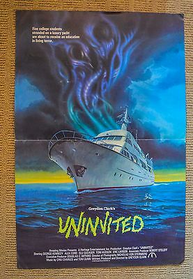 1988	Uninvited	Double sided	VIDEO POSTER	George Kennedy HORROR