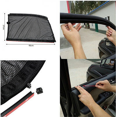 2Pcs Car Front Side Window Curtains Sun Shade UV Protection Interior Accessories
