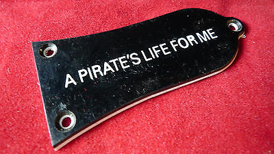 Genuine Epiphone A PIRATE'S LIFE FOR ME Guitar Truss Rod Cover Black TRCA