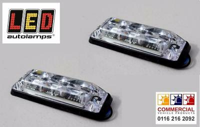 Pair of super slim LED amber flashing warning lamps by LED Autolamps/Electraquip