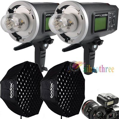 2Pcs Godox AD600BM 600W HSS 1/8000s High Speed Flash + X1T Trigger + Softbox Kit