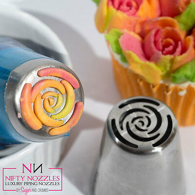 Original Sugar and Crumbs Nifty Nozzle - # 10 Petal Rose, Tülle, Spritztülle,