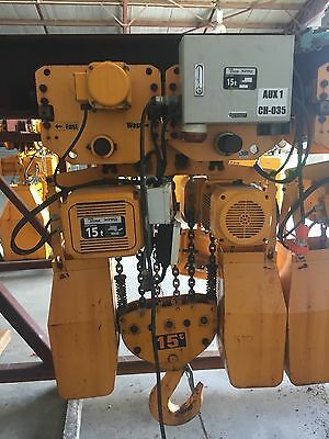 15 and 20 tonne Electric Chain Hoists