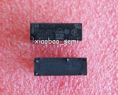 2PCS ALD124 24VDC ORIGINAL 3A 250VAC Relay 4Pin