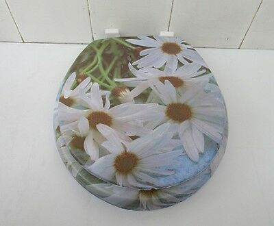 1X New Chrysanthemum Flower Soft Toilet Seat & Cover 43cm Long